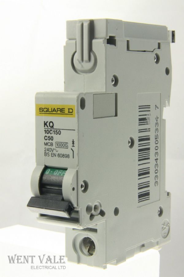 Square D Loadcentre - KQ10C150 - 50a Type C Single Pole MCB Unused